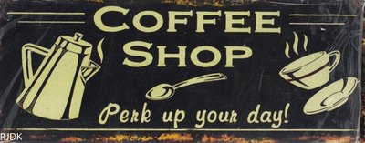 Coffee shop Perk up your Day! 20x50