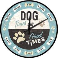Wall Clock Dog Times NA51089
